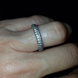 Pandora pave' eternity band. NWOT